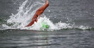 Olympian Martina Grimaldi on her way to winning a 10 K at Marina Martinique.