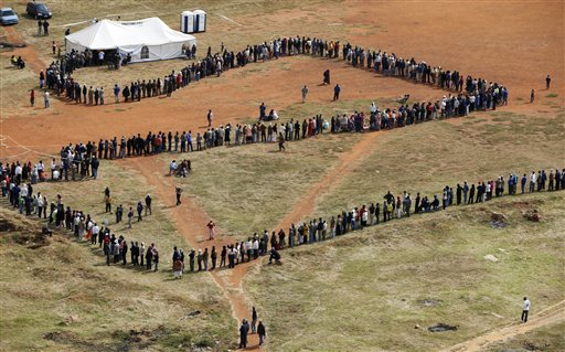 South Africans will vote on 7 May.